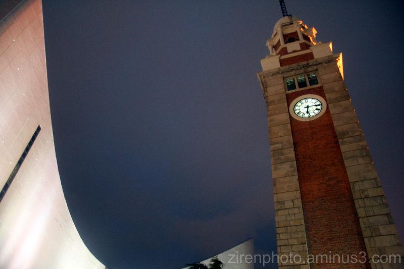 """A """"big ben"""" clocktower in the CBD of Hong Kong."""