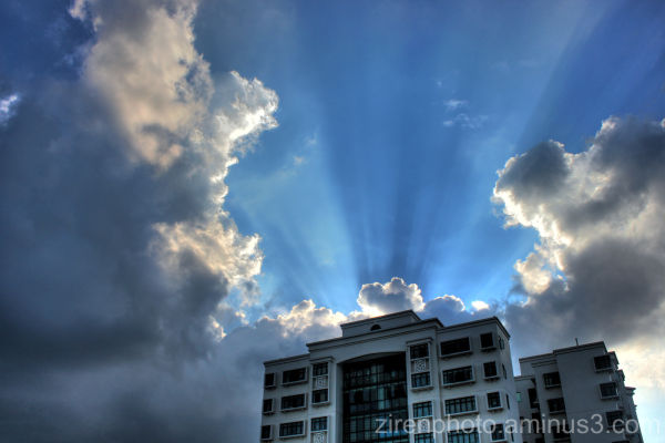 HDR image of the holy skies in Singapore City.