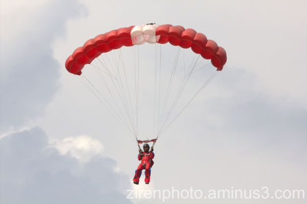 Paratroopers' display during RSAF Open House.