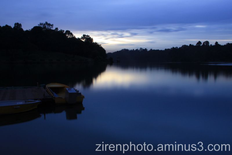 Sunset scene at Macritchie Reservoir, Singapore.