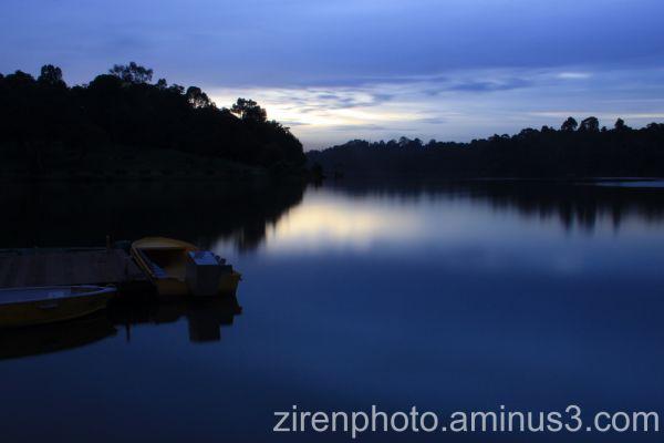 Sunset scene at Macritchie Reservoir, Singapore.