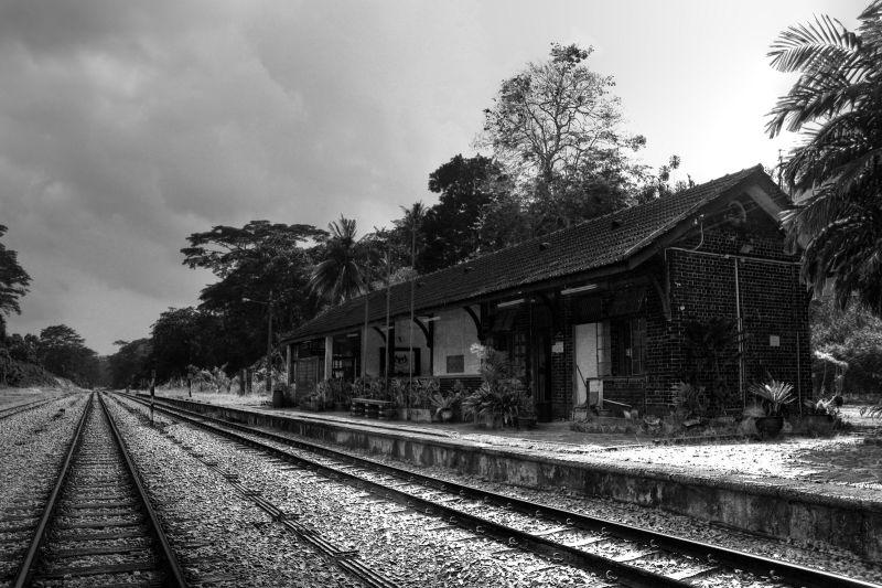 Bukit Timah KTM Station, in monochrome. (2011)