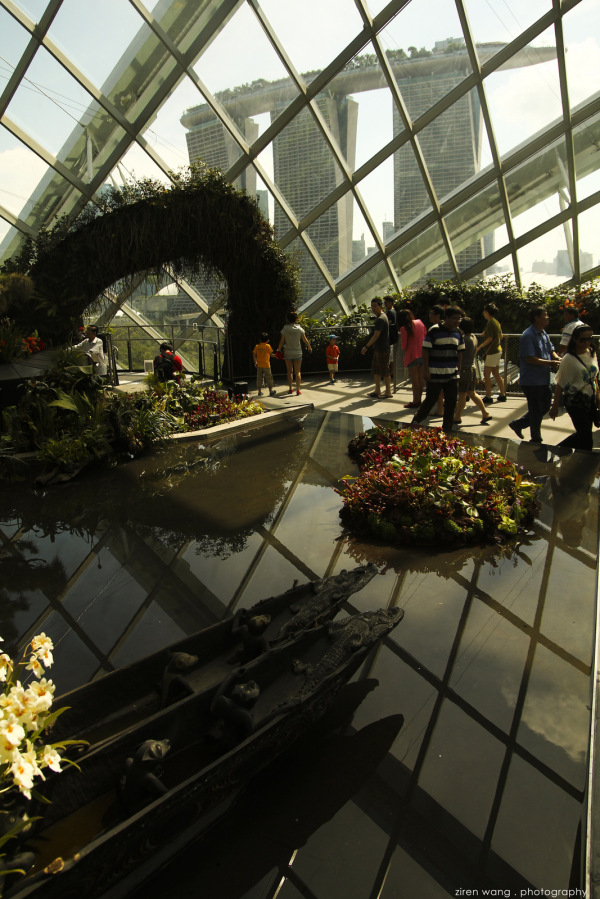 Inside Gardens by the Bay, beside Marina Bay Sands