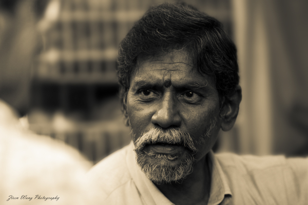 Indian uncle of a tailor shop in Chinatown, S'pore