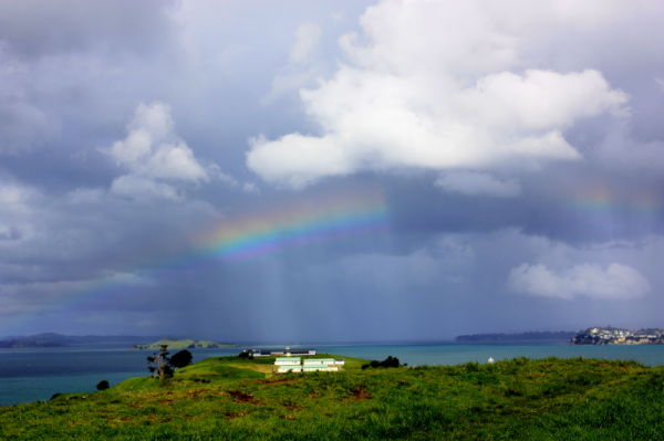 rainbow over north head