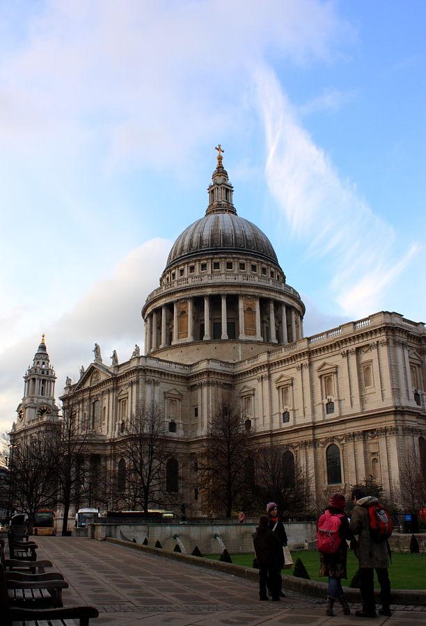 St Pauls London Church clouds