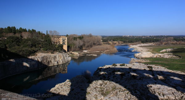 Shadow of the Pont du Gard