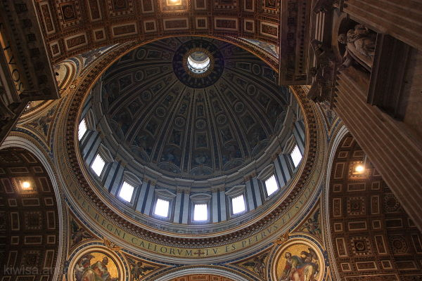 St Peters Basilica dome interior