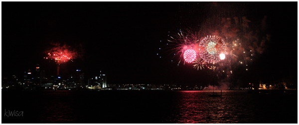 2011 Fireworks from the Sky Tower