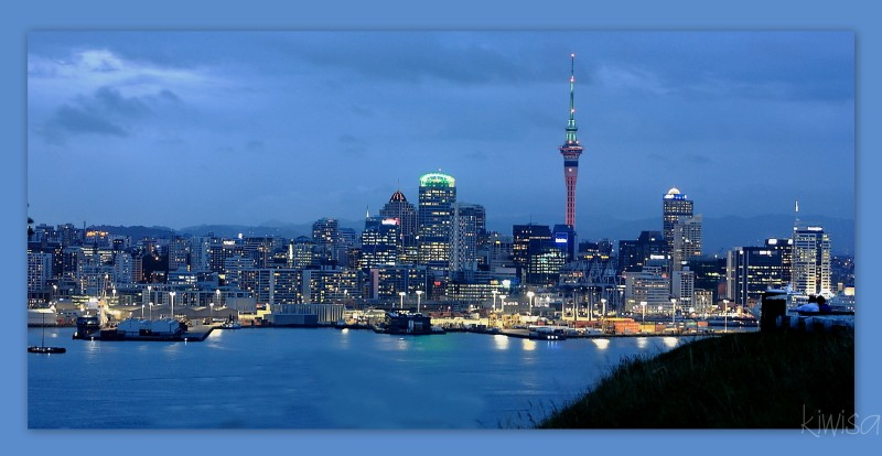 Auckland by moonlight