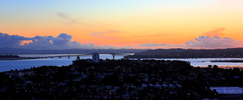 Sunset over Auckland