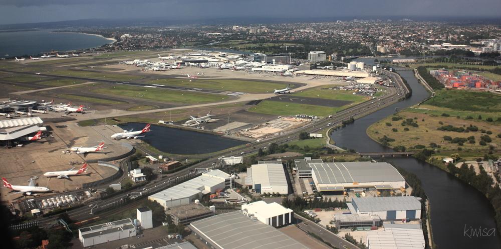 Landing at Sydney International airport