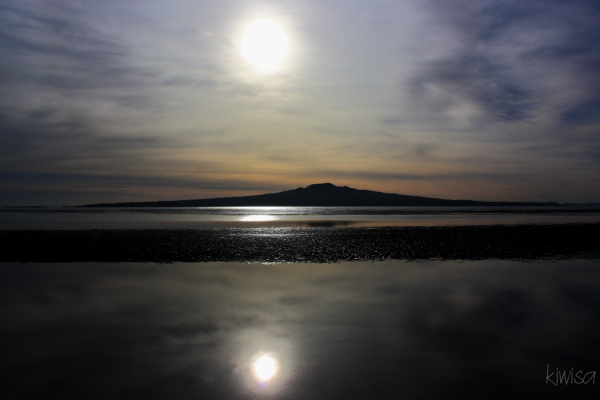 Rangitoto's double sun