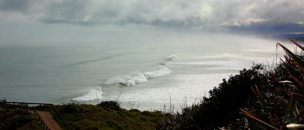 Sea mist over Muriwai