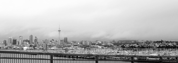 Auckland city from the Harbour bridge
