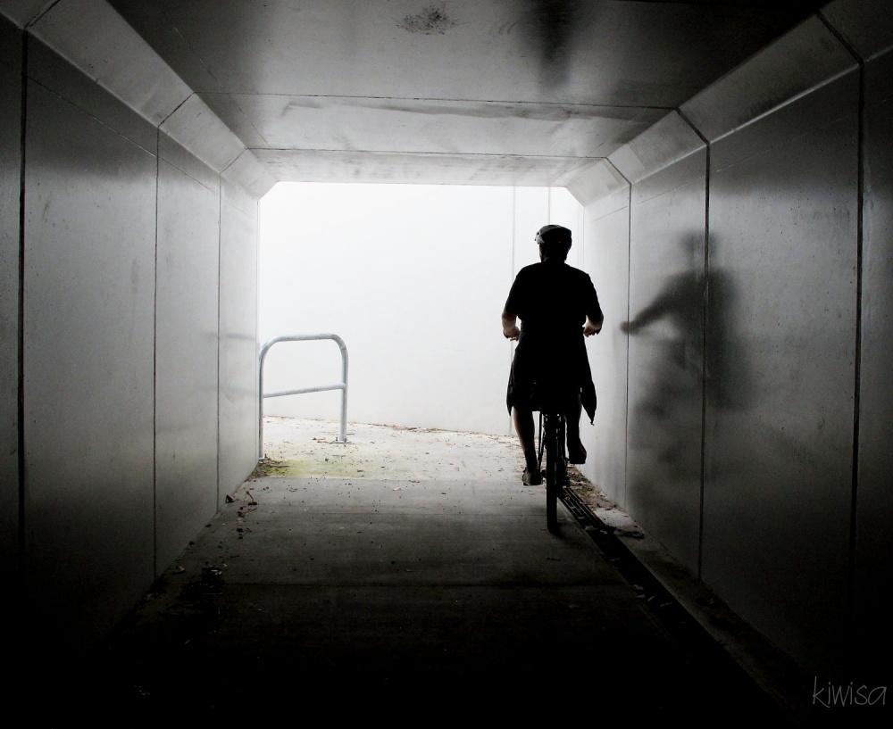 Shadow cyclist