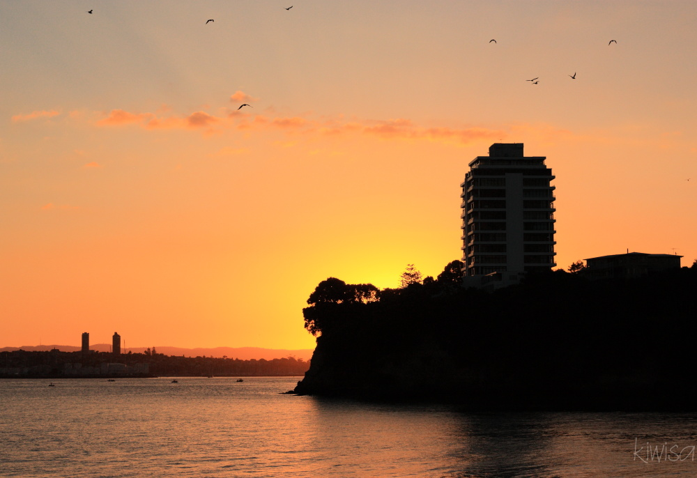 Sunset from Stanley Bay