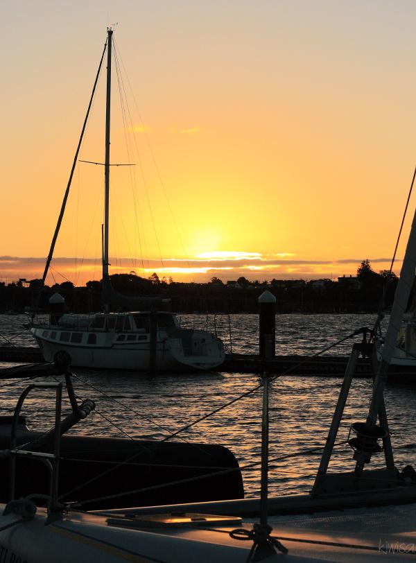 Sunset from Baywater marina