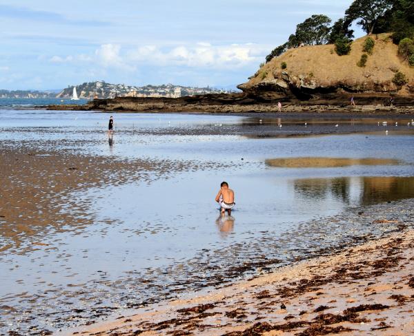 Autumn beach fun