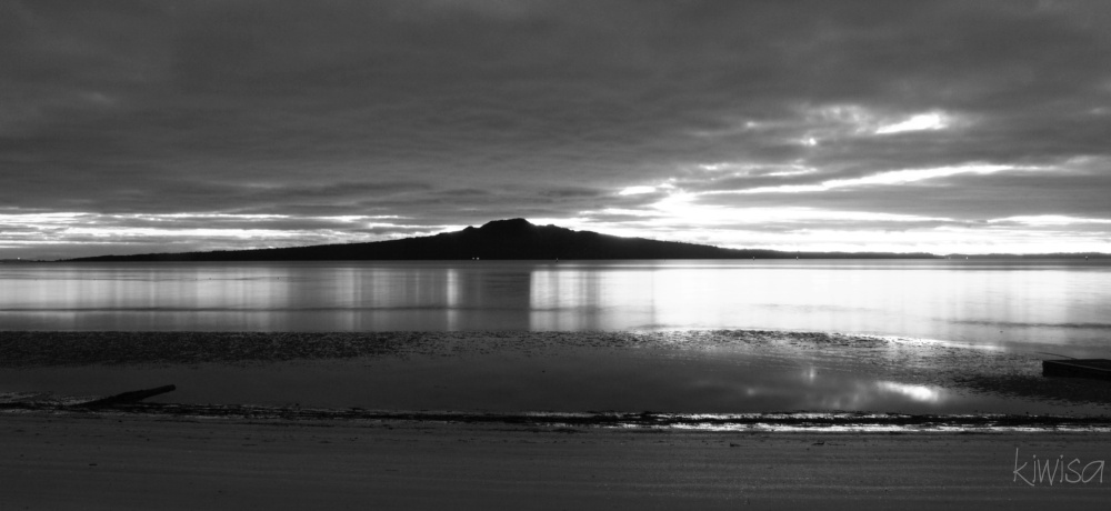 The dawn in black and white