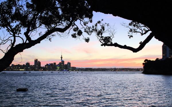 Framed city view