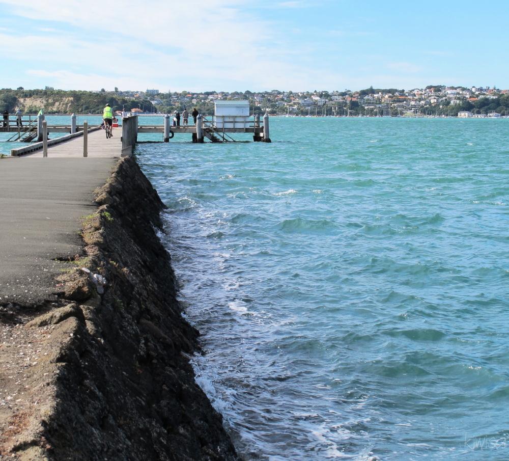 High tide at the wharf