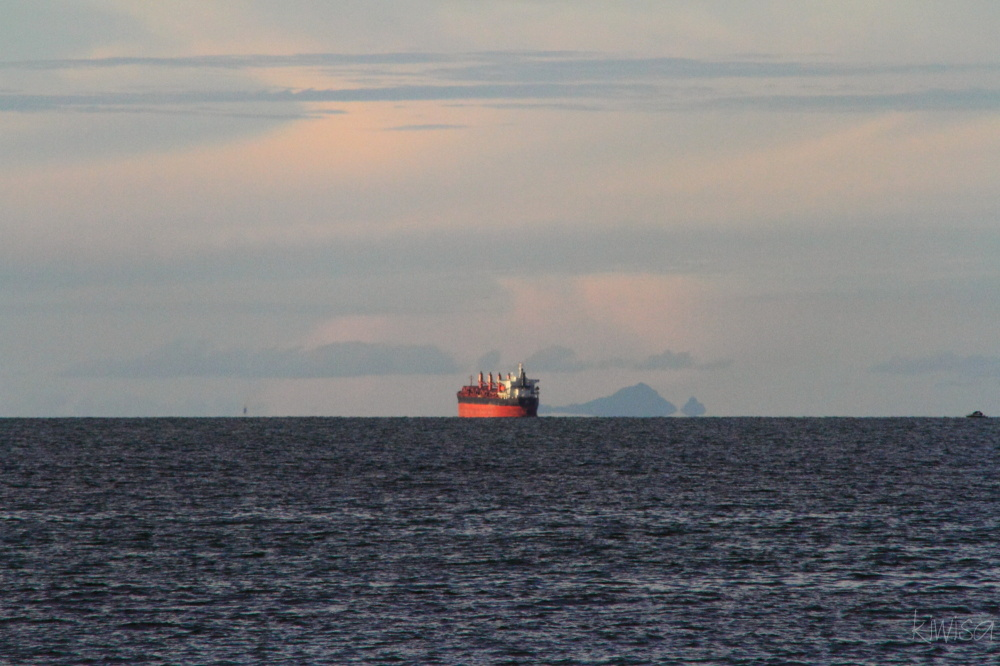 Tanker on the horizon