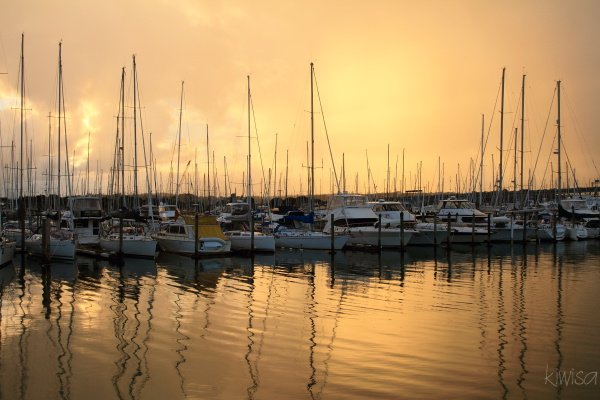 Sunset from Westhaven marina