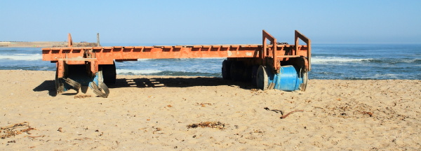 Raft on Swakopmund beach