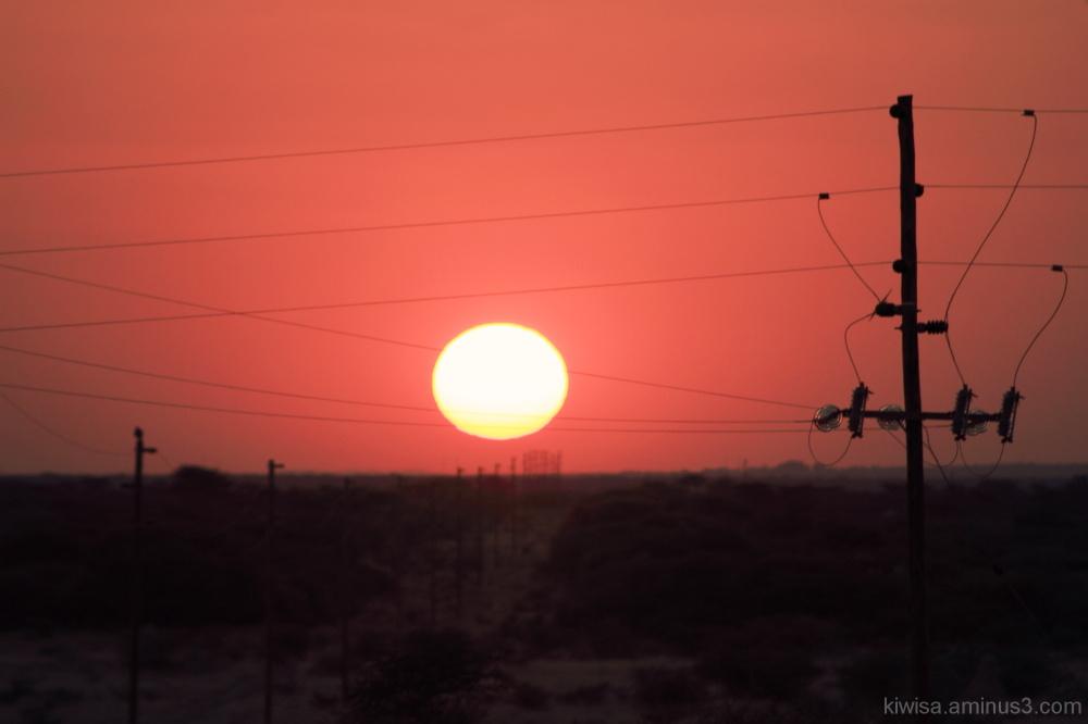 Otjiwarango - amazing sunset