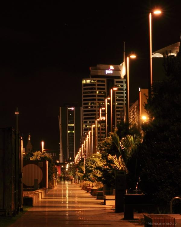 Wynyard quarter at night