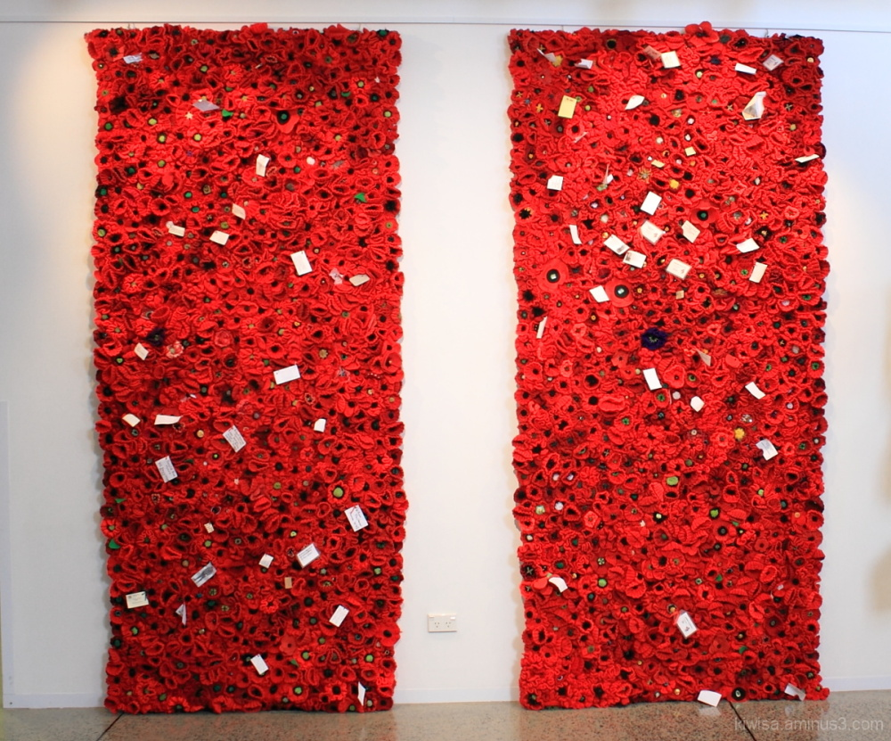 #2 Poppy wall of Remembrance for Anzac Day 2015