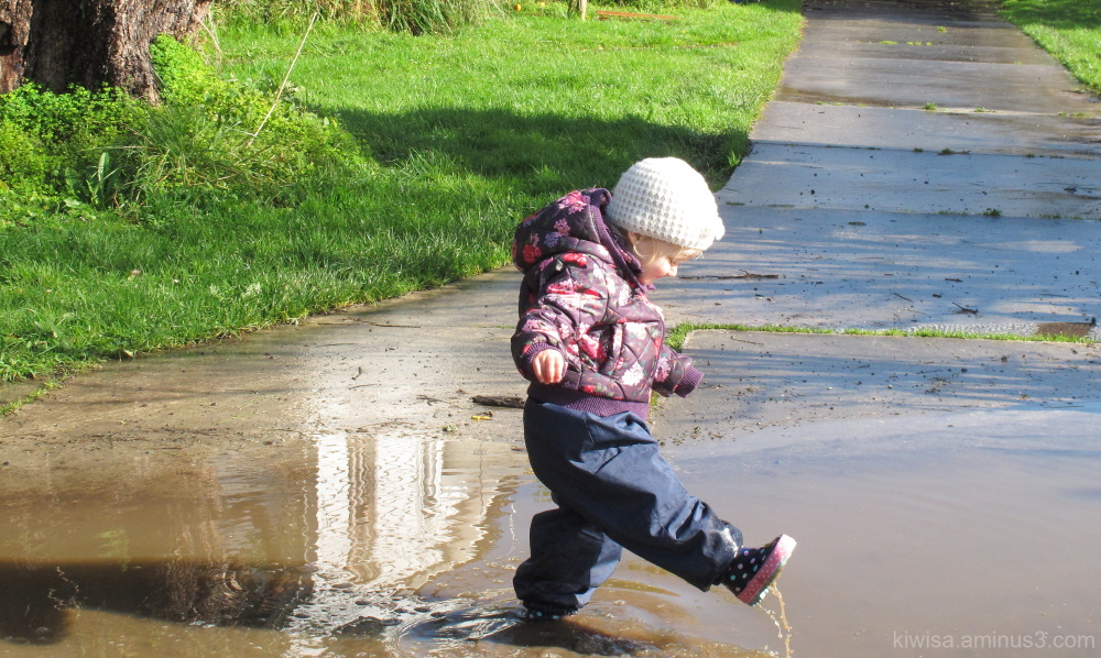 Puddles are such fun