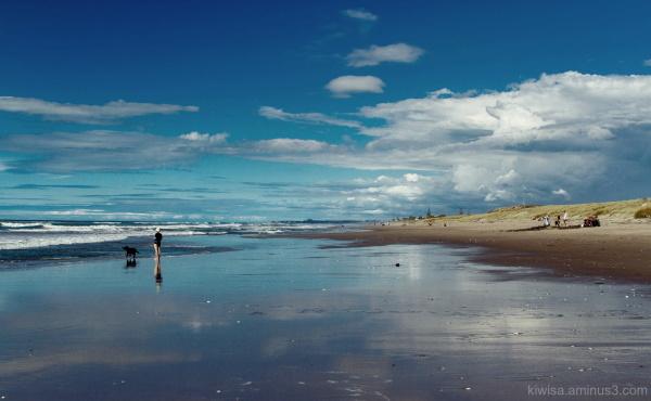 Afternoon beach walk
