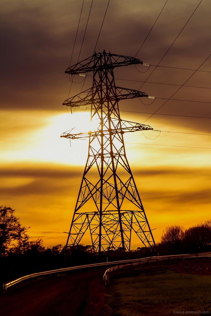 Pylon sunset