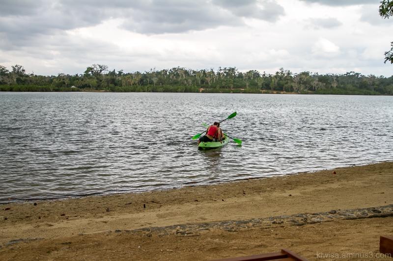 Canoeing on Erakor Lagoon