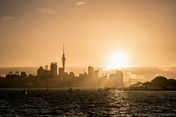 Another sunset over Auckland city