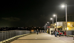 Devonport wharf at night