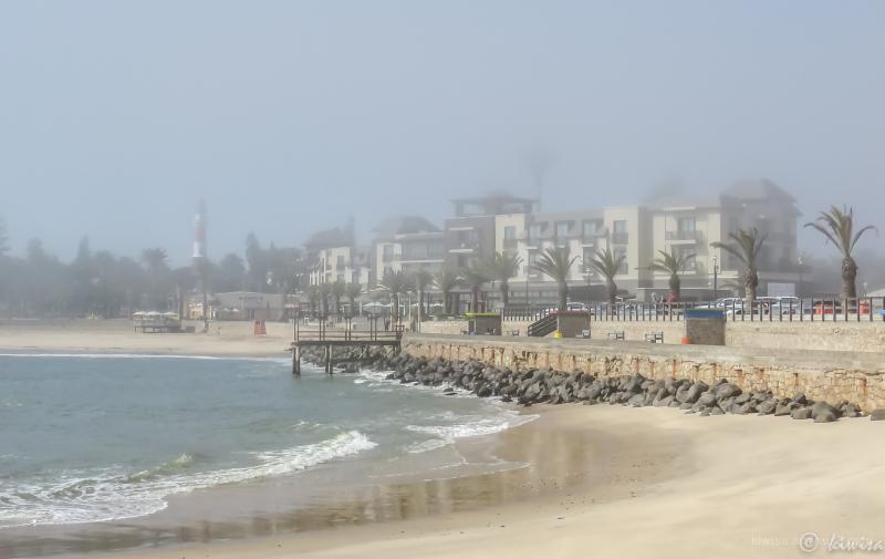 Swakopmund under a sea mist