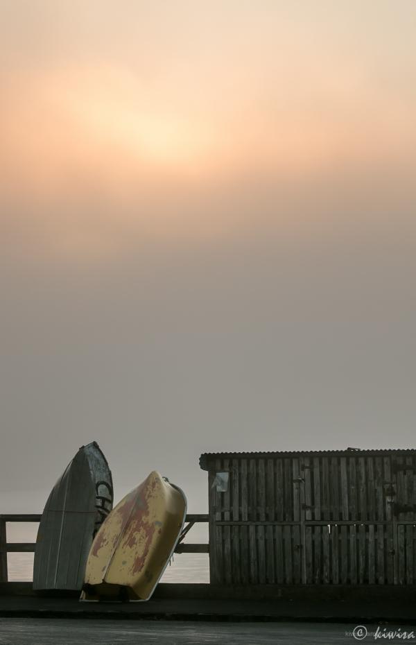 Misty Auckland morning