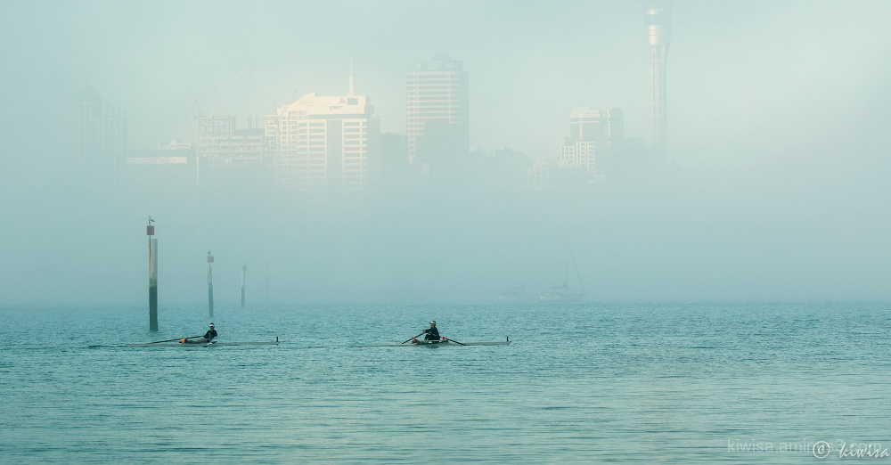 Auckland in the mist