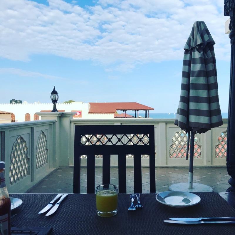 #2 Zanzibar- breakfast with a view