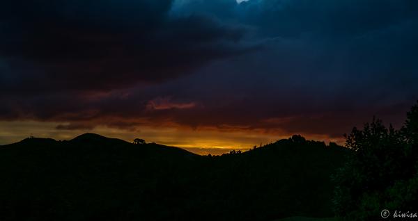 As the sun drops over the horizon
