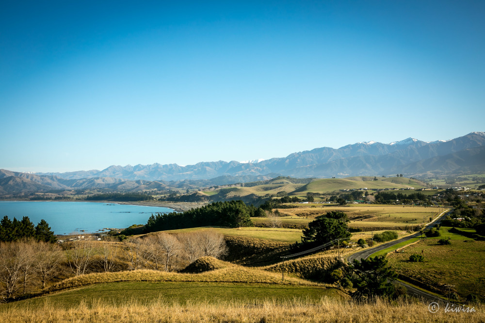 #24 SI Road trip-Kaikoura view over South Bay