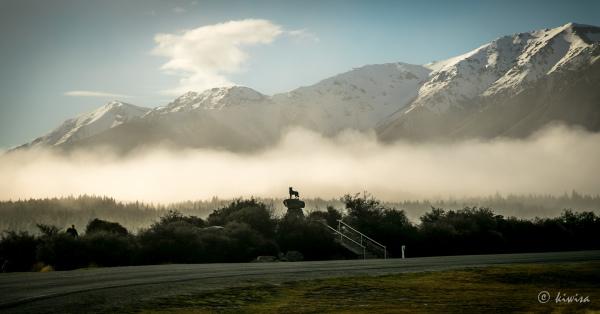 #49 SI RoadTrip, Collie dog memorial, Lake Tekapo