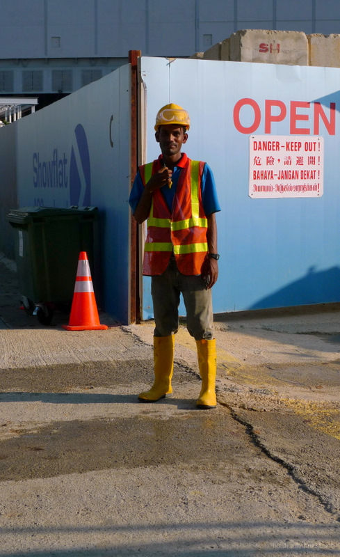 A Singapore worker