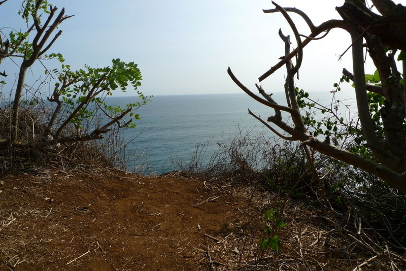 Just before the cliff near the Uluwatu temple