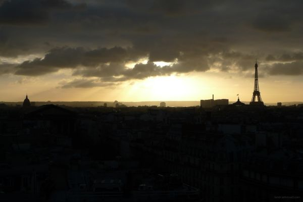 View from the rooftop of Printemps Haussman Paris