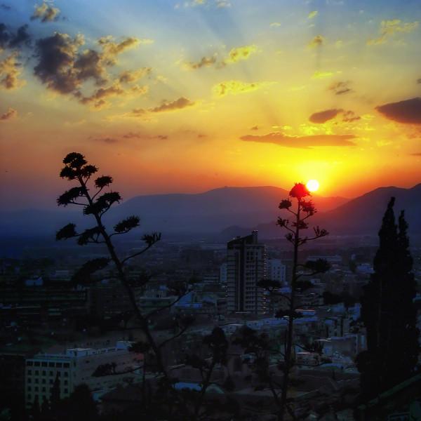 Sunset in Granada. Spain.