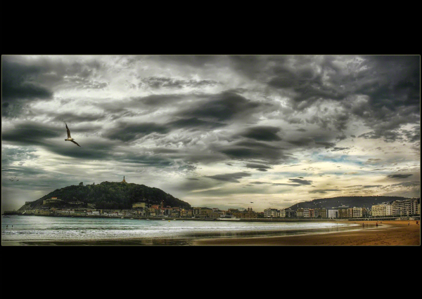 La Concha bay, Donostia, Basque Country, Spain.